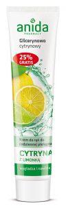 Krem 125ml glicerynowo-cytrynowy z limonką Anida
